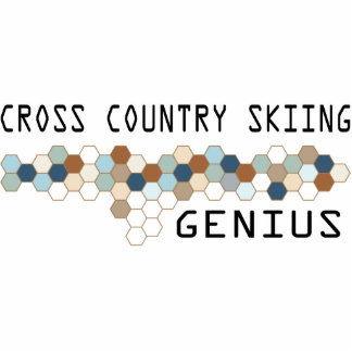 Cross Country Skiing Genius Acrylic Cut Outs
