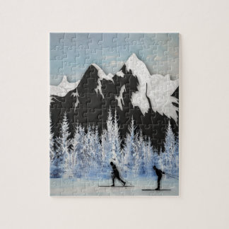 Cross Country Skiing Jigsaw Puzzle