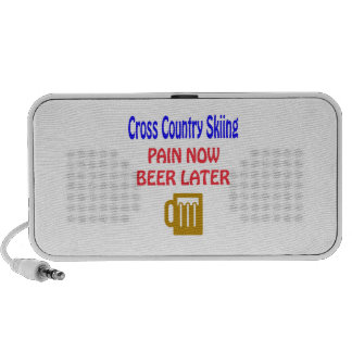 Cross Country Skiing pain now beer later Portable Speakers