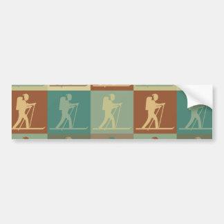 Cross Country Skiing Pop Art Bumper Sticker