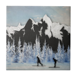 Cross Country Skiing Tile