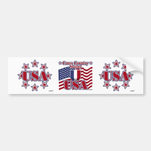 Cross Country Skiing USA Bumper Stickers