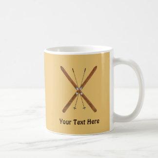 Cross-Country Skis And Poles Coffee Mug