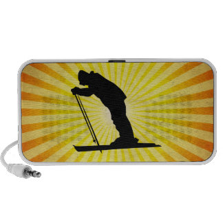 Cross Country Snow Ski; yellow Portable Speaker