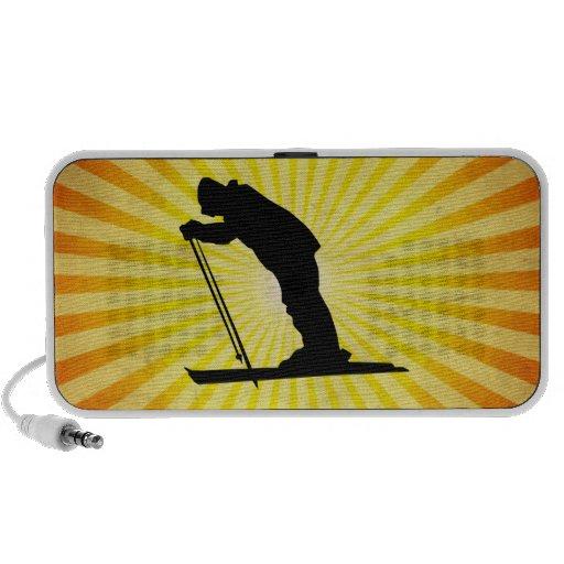Cross Country Snow Ski; yellow Laptop Speakers