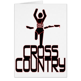 CROSS COUNTRY WINNER - FINISH LINE GREETING CARD