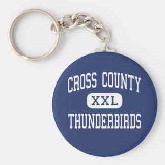 Cross County - Thunderbirds - High - Cherry Valley Basic Round Button Key Ring