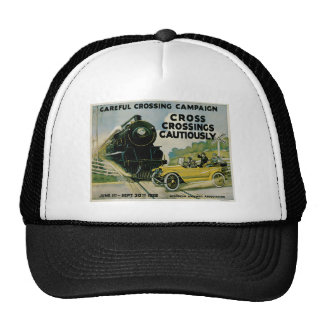 Cross Crossing Cautiously Careful Crossing Campaig Mesh Hats
