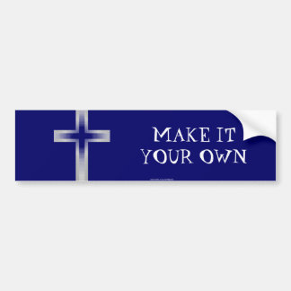 Cross crucifix bumper sticker