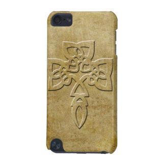 Cross - embossed look on aged texture iPod touch (5th generation) cases