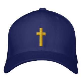 cross embroidered hats