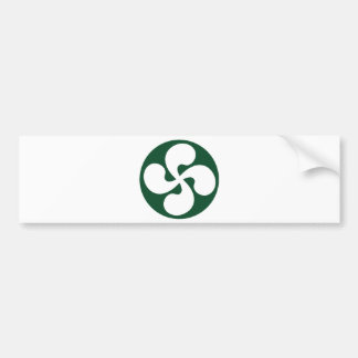 Cross extruded Basque Bumper Sticker