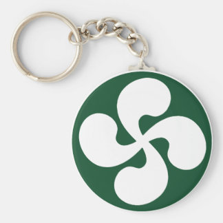 Cross extruded Basque Key Ring