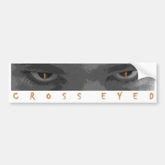 Cross Eyed Bumper Sticker