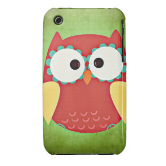 Cross Eyed Owl iPhone 3 Case-Mate Cases