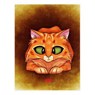 Cross Eyed Pretty Kitty Postcard