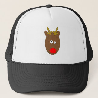 Cross eyed Reindeer Truckers Cap