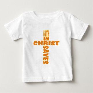 Cross: Faith Saves Baby T-Shirt