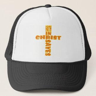 Cross: Faith Saves Trucker Hat