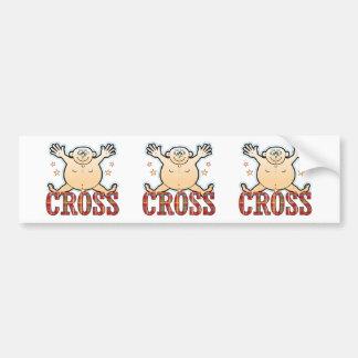 Cross Fat Man Bumper Sticker