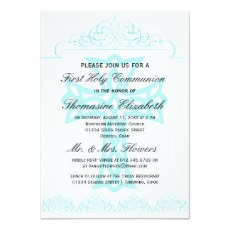 Cross First Holy Communion Invitations