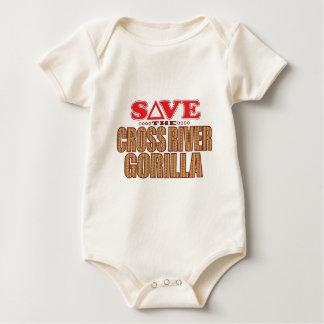 Cross Gorilla Save Baby Bodysuit