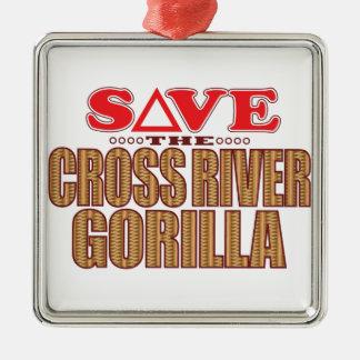 Cross Gorilla Save Christmas Ornament