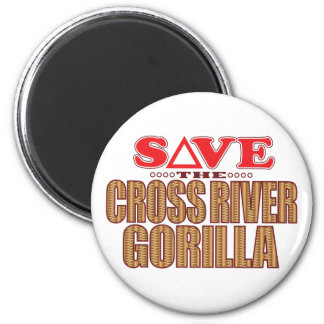 Cross Gorilla Save Magnet