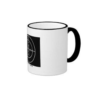 cross hairs, BLACK FOX Ringer Mug