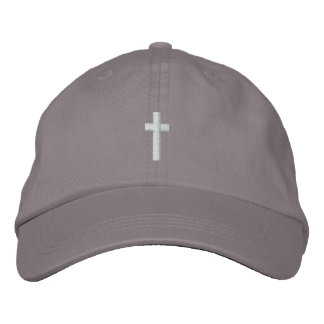 Cross Hat Embroidered Baseball Cap