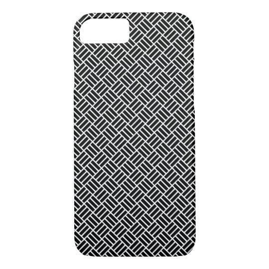 Cross Hatch Block Tiled Pattern Phone Case -