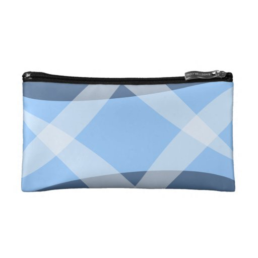 Cross Hatch Blue Cosmetic Bags
