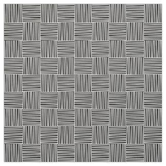 Cross Hatch Pattern, Doodle Pattern, Lines, Retro Fabric