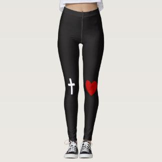 Cross + Heart Leggings