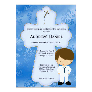 Cross  Holy Communion Boy Card