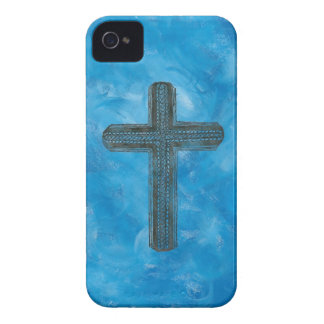 Cross in blue iPhone 4 cover