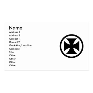 Cross in Circle monochrome Pack Of Standard Business Cards