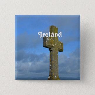 Cross in Ireland 15 Cm Square Badge