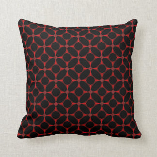 Cross in Red Tiled American MoJo Pillows
