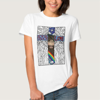 Cross in style art tee shirt