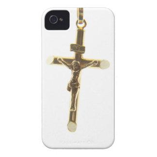 Cross Jesus Christ gold horizontal Case-Mate iPhone 4 Case