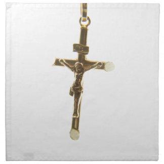 Cross Jesus Christ gold horizontal Napkin