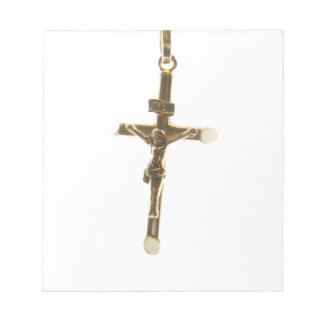 Cross Jesus Christ gold horizontal Notepad