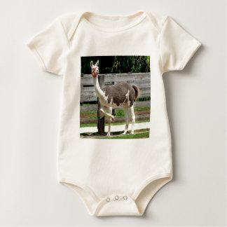 Cross-Legged Llama Infant's Creeper