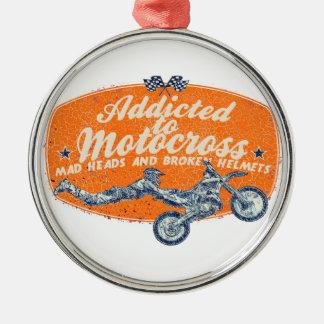 Cross moto racing christmas ornament