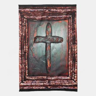 Cross of Blood Hand Towel