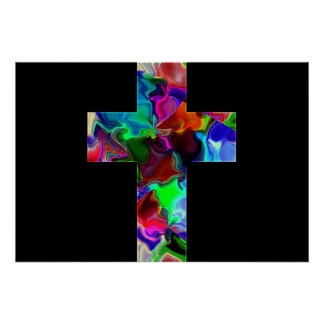 Cross of colour poster
