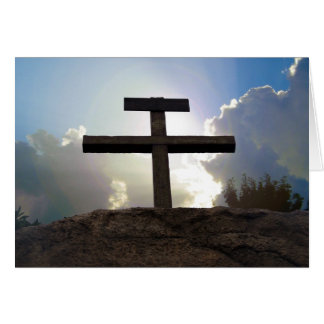 Cross of Jesus Crucifixion Golgotha Note Card Art