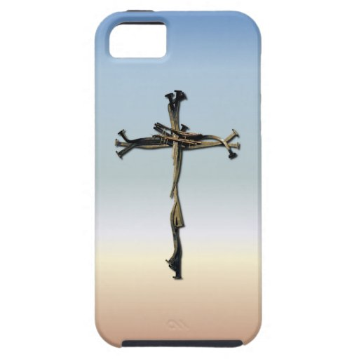 Cross of Nails Jesus Save Rustic iPhone 5 Covers