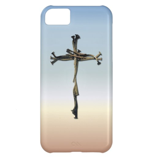 Cross of Nails Jesus Save Rustic iPhone 5C Covers